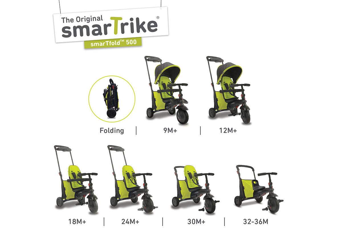 """Трехколесный велосипед """"SmarTrike"""" smarTfold 500 зеленый, -/Зеленый"""