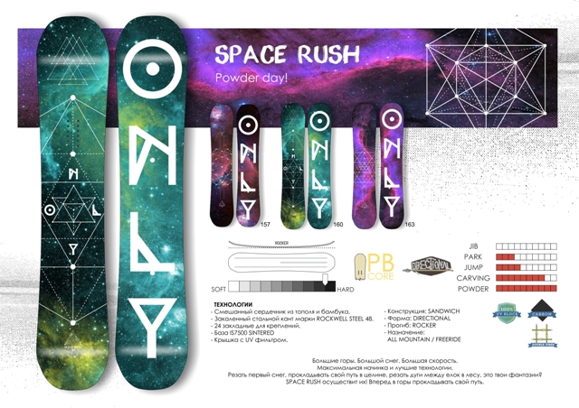 Сноуборд Only Space Rush (17-18)