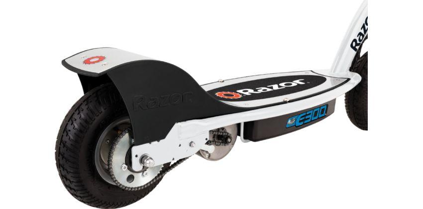 Электросамокат Razor E300 (бело-синий)