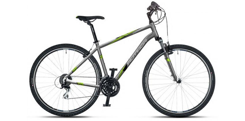 Велосипед AUTHOR Compact 20 серый/салатовый