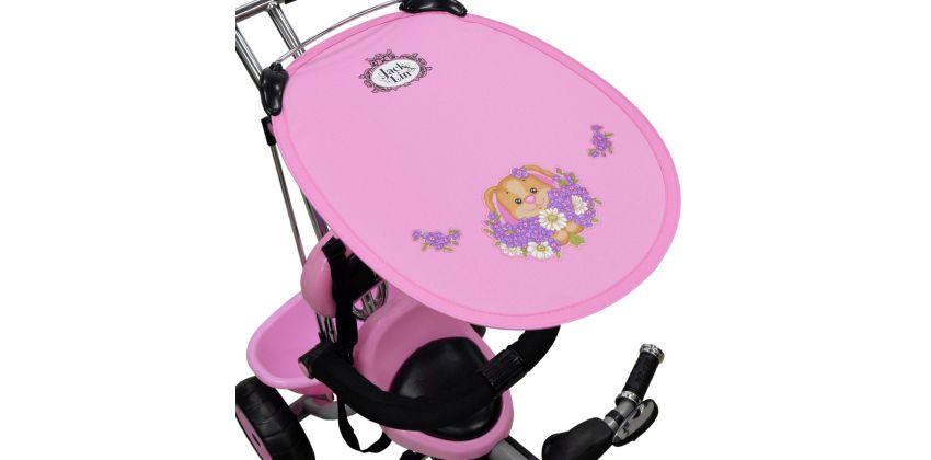 Велосипед Jack&Lin Детский, 3х-колесный, с Тентом, Розовый