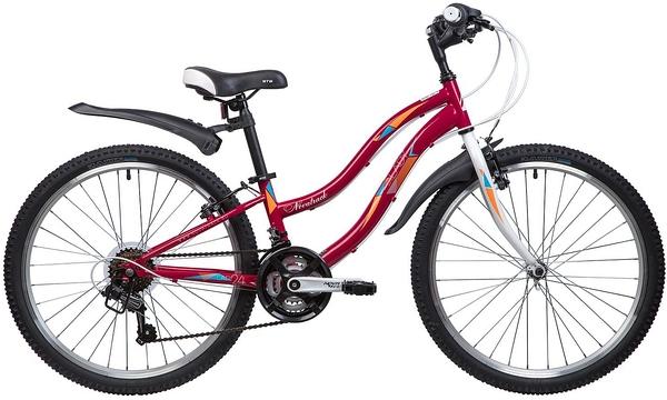 """Велосипед NOVATRACK 24"""" LADY, сталь.рама 10"""" красный, 18-скор, TZ30/TY21/RS35/SG-6SI, V-brake"""