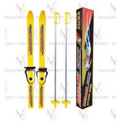 Лыжи детские Вираж-спорт с палками крепление полужесткое (12)