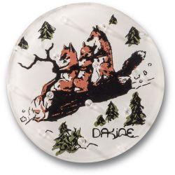 2100211 Наклейка на доску DK CIRCLE MAT FOXES
