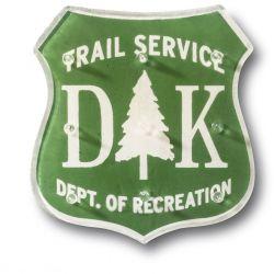 10000108 Наклейка на доску DK TRAIL MAT GREEN