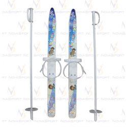 Лыжи детские Лыжики пыжики с палками (75 см) (12)