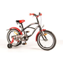 """Четырехколесный велосипед для мальчиков Volare - Black red cruiser 16"""""""