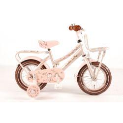 """Велосипед детский для девочек Volare (доп.колеса+ручка) - Hello kitty romantic city cream 12"""""""