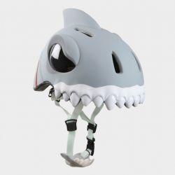 """Детский велосипедный шлем Crazy Safety - """"Белая акула"""""""
