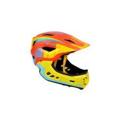 Детский шлем JET-CAT FULLFACE RAPTOR (ORANGE/YELLOW/BLUE)