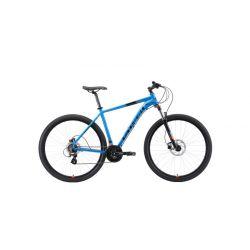 """Велосипед Stark'19 Router 29.3 HD голубой/чёрный/оранжевый 22"""""""