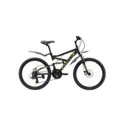 Велосипед Stark'19 Rocket 24.2 FS D черный/зелёный