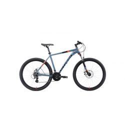"""Велосипед Stark'19 Router 27.3 D серый/чёрный/оранжевый 22"""""""