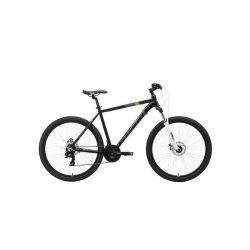 "Велосипед Stark'19 Hunter 27.2 D чёрный/серый/зелёный 18"""