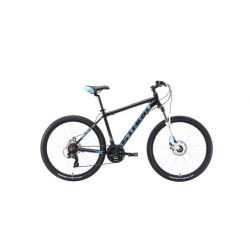 """Велосипед Stark'19 Indy 26.2 D чёрный/голубой/белый 16"""""""