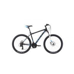 """Велосипед Stark'19 Indy 26.2 D чёрный/голубой/белый 18"""""""