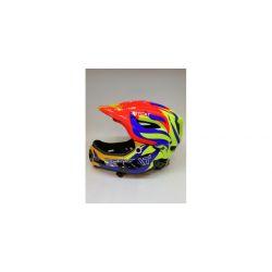 Детский шлем JET-CAT FULLFACE RAPTOR SE- Зеленый/Синий/Красный/Желтый