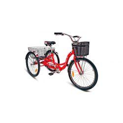 """Велосипед Stels Energy I 26"""" V020 Красный/Белый (с корзиной) (LU085324)"""