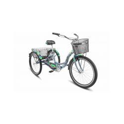 """Велосипед Stels Energy III 26"""" V030 Зеленый (с корзиной) (LU085325)"""