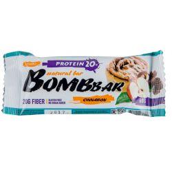 Батончик протеиновый Bombbar 60гр  (яблоко-корица)