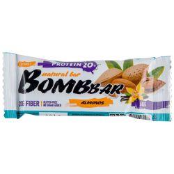 Батончик протеиновый Bombbar 60гр  (миндаль-ваниль)
