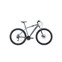 "Велосипед Stark'19 Funriser 29.4+ HD серый/оранжевый 18"""