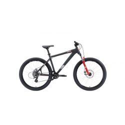 """Велосипед Stark'20 Shooter-2 чёрный/белый/красный 18"""""""