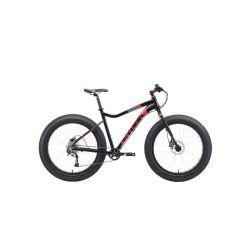 """Велосипед Stark'19 Fat 26.5 HD чёрный/красный/серый 18"""""""