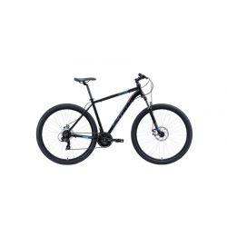 """Велосипед Stark'20 Hunter 29.2 D чёрный/серый/голубой 22"""""""