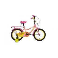 "Детский велосипед Forward Funky 16 (2020) Бирюзово-желтый 16"""