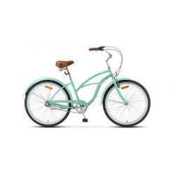 "Женский велосипед Stels Navigator 130 Lady 3-sp V010 (2020) Зеленый 17"""