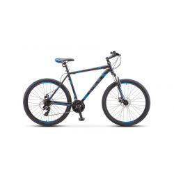 """Горный велосипед Stels Navigator 700 MD F010 (2019) Серебристо-синий 21"""""""