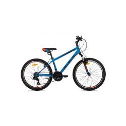 "Подростковый велосипед Stels Navigator 400 V V031 (2018) Серо-зелено-белый 24"""