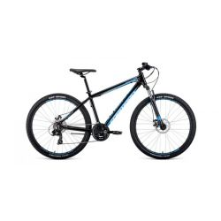 """Горный велосипед Forward Apache 27,5 2.0 Disc (2020) Серо-голубой 15"""""""