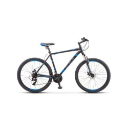 """Горный велосипед Stels Navigator 700 MD F010 (2019) Серебристо-синий 17.5"""""""