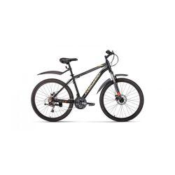 """Горный велосипед Forward Hardi 26 2.0 disc (2019) Желтый 17"""""""