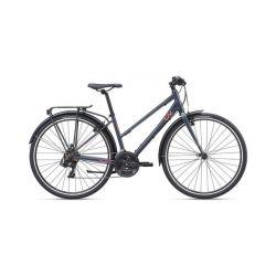 """Женский велосипед Giant Alight 3 City (2020) Серо-розовый 18"""""""