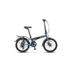 "Складной велосипед Stels Pilot 630 MD V010 (2020) Серо-синий 20"""