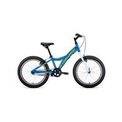 """Детский велосипед Forward Comanche 20 1.0 (2020) Голубо-желтый 20"""""""