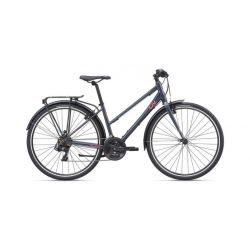 """Женский велосипед Giant Alight 3 City (2020) Серо-розовый 19.5"""""""
