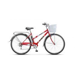 """Женский велосипед Stels Navigator 350 Lady Z010 (2018) Красный 20"""""""