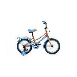 """Детский велосипед Forward Azure 16 (2020) Желто-голубой 16"""""""