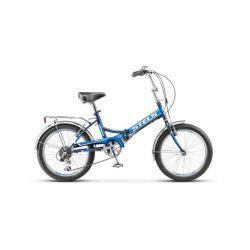 """Складной велосипед Stels Pilot 450 Z011 (2018) Черно-зеленый 20"""""""