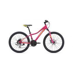 """Подростковый велосипед Giant Enchant 1 24 Disc (2019) Фиолетово-желтый 24"""""""