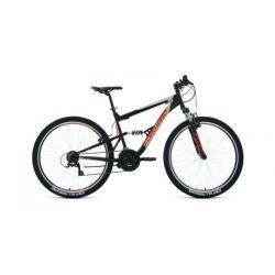 """Двухподвесный велосипед Forward Raptor 27,5 1.0 (2020) Черно-красный 16"""""""