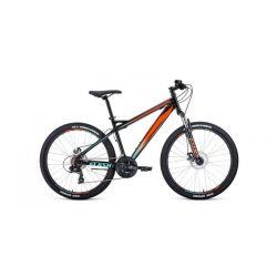 """Горный велосипед Forward Flash 26 2.0 Disc (2020) Черно-оранжевый 15"""""""