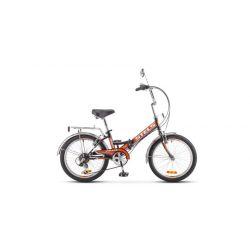 """Складной велосипед Stels Pilot 350 Z011 (2018) Черно-оранжевый 20"""""""