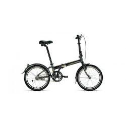 """Складной велосипед Forward Enigma 20 1.0 (2020) Черно-бежевый 20"""""""