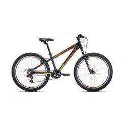 """Подростковый велосипед Forward Twister 24 1.0 (2020) Черно-оранжевый 24"""""""