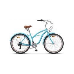 "Женский велосипед Stels Navigator 150 Lady 21-sp V010 (2020) Синий 17"""